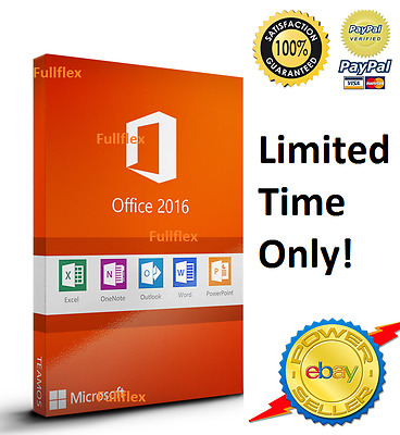 Microsoft Office 2016 & 365 Professional account - For 5 PCs Computers Windows