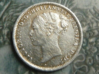 threepence coin 1887 young head very high grade