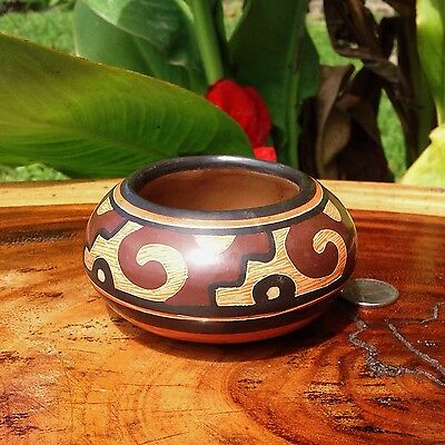 Tribal Pottery, Small Chorotega Vase from Guaitil Costa Rica, Handmade Authentic