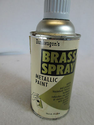 Vintage 1950's Bandwagon's Brass metallic aerosol spray paint can