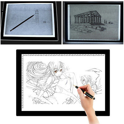 A3 A4 A4 LED Artist Thin Art Stencil Board Light Box Tracing Drawing Board UK