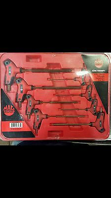MAC TOOLS SHKTBM8PT 8 Piece Metric T-Handle Speed Hex Key Set