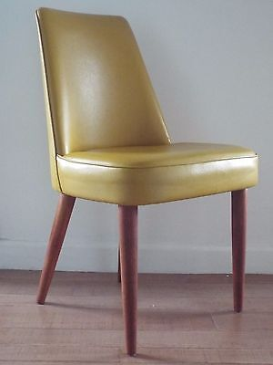 Mid Century 1950's Teak & Vinyl George Stone Desk Chair COURIER AVAILABLE