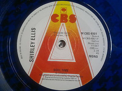 "SHIRLEY ELLIS  -  Soul Time   -  CBS  45s""   NORTHERN SOUL"