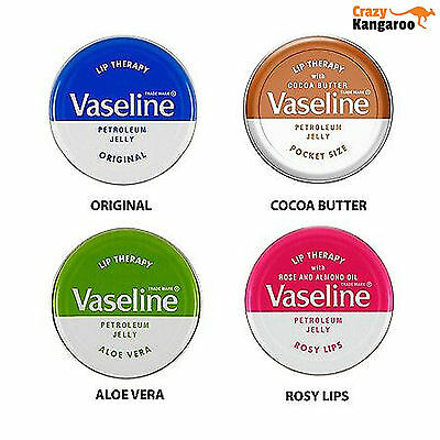 Vaseline Lip Therapy Petroleum Jelly 20g ** Choose Flavour** - FREE DELIVERY