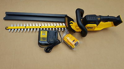 DEWALT DCHT820P1 20V MAX Hedge Trimmer Kit with DCB205 5.0Ah Battery & Charger