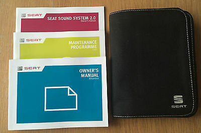 Seat Alhambra Owners Manual Handbook Pack With Wallet +Service 2012-2014 Ref3012