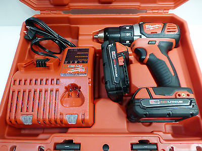 "Milwaukee 2606-22CT M18 Compact 1/2"" Drive Drill Driver Kit + 2 batteries New"