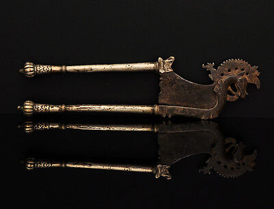 Antique Betel nut cutter, horse, iron with silver sheathing, Indonesia (Java)