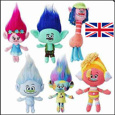 DreamWorks Movie Trolls Toys Large Poppy Branch Hug 'N Plush Doll Kids Xmas Gift