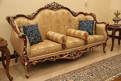 ANTIQUE French Sofa / Couch and Two Chairs Plus Two Side Tables
