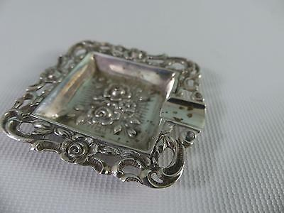 (ref165BX) Antique Ornate Solid Silver Ashtray