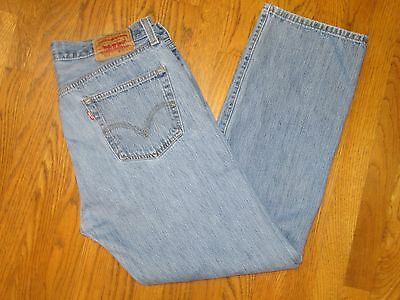 Vintage  Levis 501 men's Button Fly Denim Jeans red tab 36 X 32
