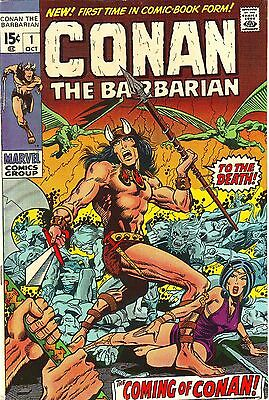 CONAN THE BARBARIAN #1 VFINE 1st Comic Barry Smith Marvel 1970 Signed Roy Thomas