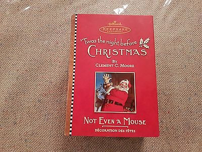 Hallmark Keepsake Ornament - Twas The Night Before Christmas - Not Even A Mouse