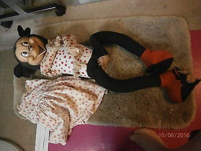 Gund Minnie Mouse Doll Large Dancing Partner Straps On Feetdress, And Rubber Fac
