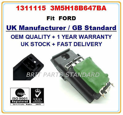 Ford Focus Mondeo Cougar Transit Tourneo Connect Heater Blower Resistor 1311115