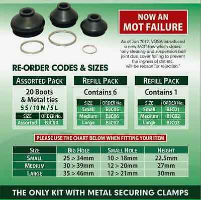 FREE Metal Securing Clamps x 2 Fiat Seicento Rubber Boots Dust Cover