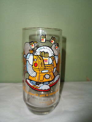 "1979 Burger King - Collector's Series - Drinking Glass -""Wizard of Fries"""