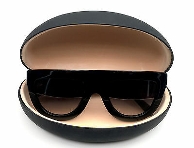 Large BLACK Hard Case Shell for Sunglasses and Eyeglasses Smooth Matte & Glossy
