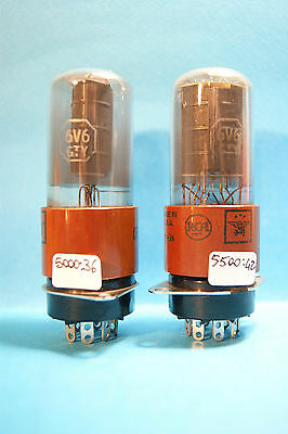 Coppia Vintage  6V6GTY RCA Made in USA    Tube  Rohre  valve