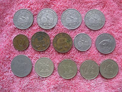 14 Coins from Uganda