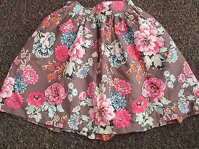 Girls Joules Skirt Age 4 Years Pink Brown Floral Pattern Dress Up Party Casual