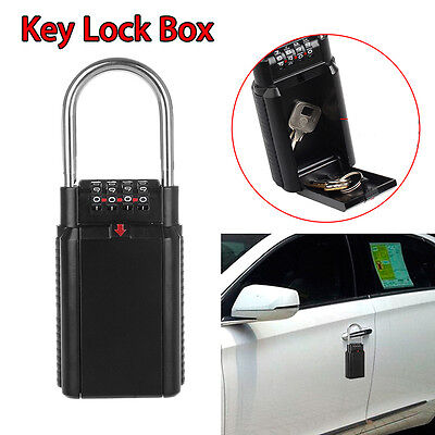 Key Safe Storage Box Security Combination Lock for Realtor Outdoor Use Portable