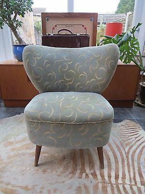 EAST GERMAN BARTHOLOMEW COCKTAIL CHAIR C1955 PERFECT 4 REUPHOLSTERY oc16-34