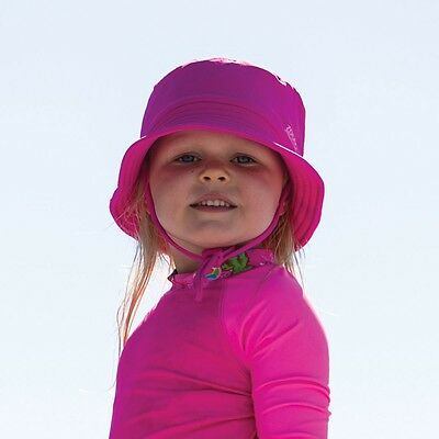 New Zoggs Sun Bucket Hat In Navy & Pink - Swimming Hat For Kids For Pool Swim