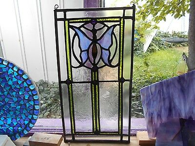 Sunset Stained Glass Window Panel Suncatcher  Art Deco