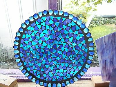 Sunset Stained Glass Window Panel Suncatcher  Mossic