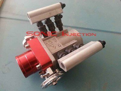 """SONIC INJECTION Draw Through Turbo 2.5"""" V-Band EFI Throttle Body Injection"""