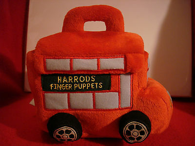 Harrods London - Plush Finger Puppets and Double Decker Bus