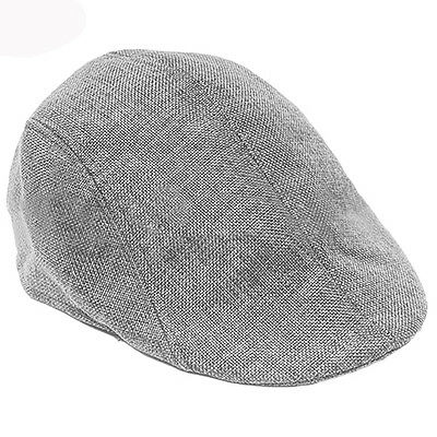 Unisex Adult  Peaked Cap Flat Hat Country Newsboy Cabbie Golf Chef Hats Grey