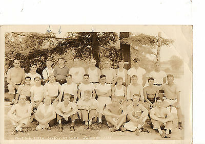 """1938 Large Photograph West Side YMCA Leaders at Camp Some Names 7""""x11"""""""