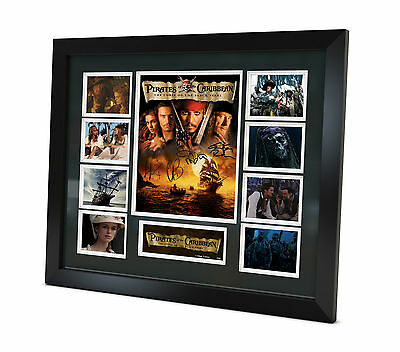 Pirates Of the Caribbean - Johnny Depp Signed Photo Movie Memorabilia Framed COA