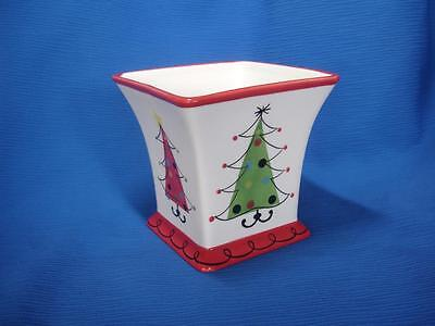 FTD Christmas Tree Planter Ceramic Container Floral Supplies Decor ~ EXCELLENT!