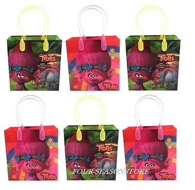 12PCS Dream Works Trolls Goodie bags Party Favor Bags Gift Bag