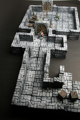Modular dungeon terrain 50 pieces set dongeon dragon, d&d, warhammer,40k, rpg