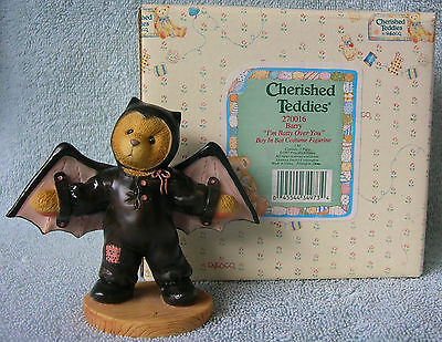 "Cherished Teddies BARRY ""I'm Batty Over You"" Boy In Bat Costume  #270016 NIB"