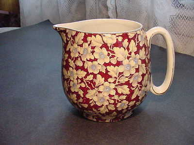 Vintage Lord Nelson Royal Brocade Chintz  Pitcher Jug