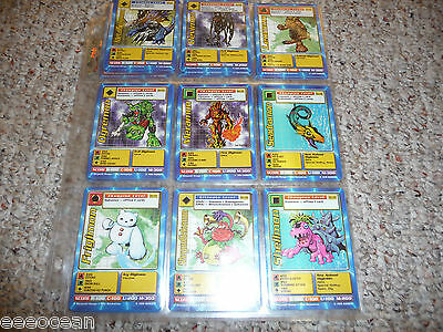 DIGIMON CARDs English Booster set COMPLETE SERIES 1&2,108 cards,NM,rare in set