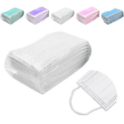 50 Pcs Disposable Dental Medical Surgical Dust Ear Loop Face Mouth Mask Hot