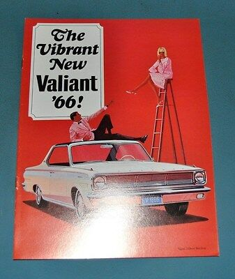 1966 Plymouth Valiant Sales Brochure Canadian NOS New Old Stock