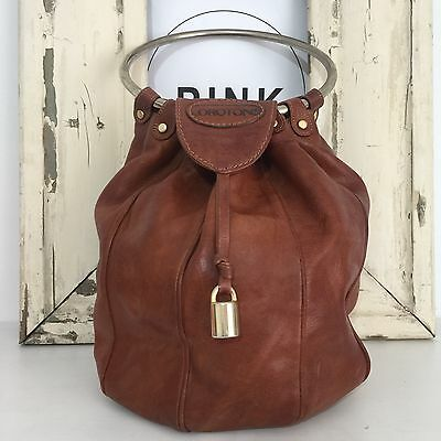 Rare OROTON Vintage OLD SCHOOL 80's Made Italy COLLECTABLE Handbag Leather Bag