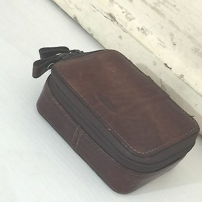 OROTON Makeup Pill BOX Bag / Purse Coin 80's VINTAGE Old School RARE LEATHER