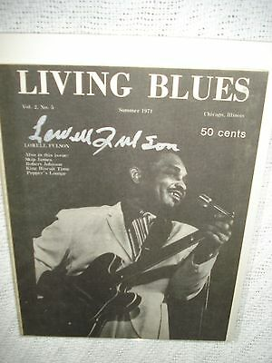 Living Blues Magazine featuring Lowell Fulson signed cover