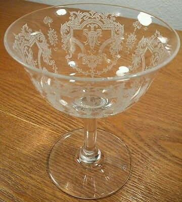 Morgantown Glass Richmond Etched Coupe Glass