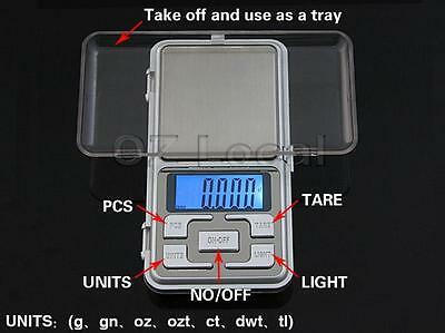 500g/0.1g Mini Precision Pocket Jewelley Electronic Digital Scale Weight Balance